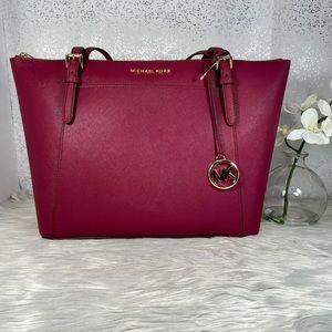 🆕 Michael Kors Magenta Ciara LG TZ Tote Bag